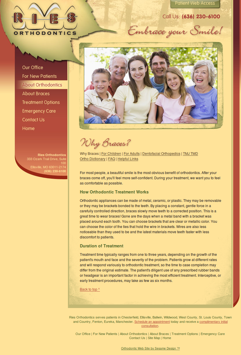 orthodontics website image