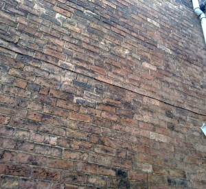 picture of brick wall side of house